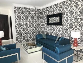 3 bedroom A/C wi-fi Apartment,7 min from STI Airport