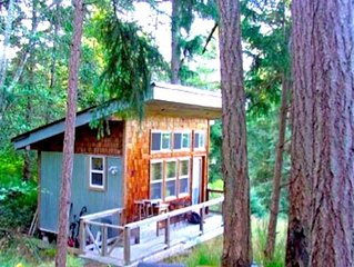 Salt Spring Acreage - 200 ft2 Sleeping Cabin + 400ft2 Studio Cabana across Lake