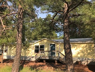 Play in the Pines. Comfortable 3 bedroom home on a large lot in the quiet pines.