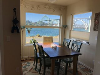 Waterfront home with gorgeous views of the Yaquina Bay, Bridge and South Jetty