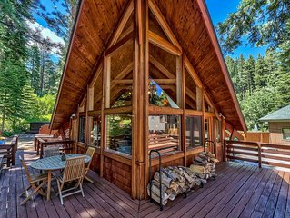 3 Bdrm Quintessential Cabin in the Woods On a Creek Sleeps 6
