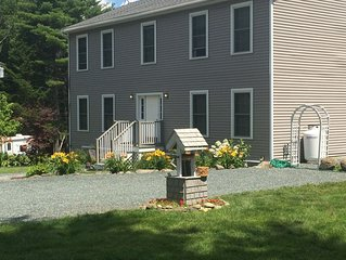 Tucked Inn is a beautiful and peaceful home nestled in the woods on 3 acres