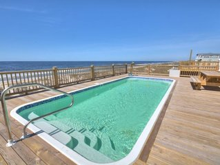 Beautiful,BRAND NEW, 7 Bdrm/6.5 Bath Oceanfront Home w/ELEVATOR & POOL-Sleeps 19