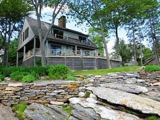Five Bedroom, Four Bathroom Oceanfront Cottage Boothbay Harbor Maine
