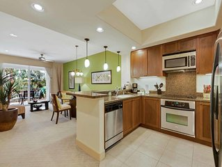 Stylish Design! Kitchen+Laundry Room Ease, AC, WiFi, Lanai–Halii Kai Waikoloa 1C