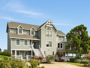 Sound Surround: Manteo soundside, 8 bedroom with a private pool, hot tub, elevat
