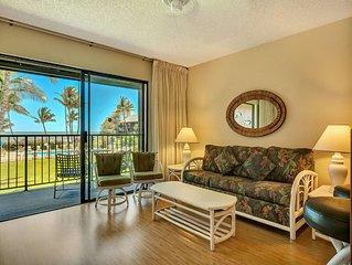 Homey Suite w/Pool+Ocean View! Open Kitchen, Lanai, Flat Screen–Molokai Shores 2