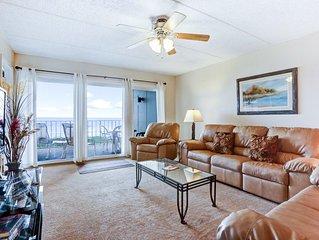 3rd Floor 2 Bedroom/2 Bath Oceanfront condo sleeps 6 guests.  Oceanfront balcony
