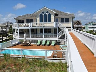 Beach Boys: Oceanfront home with heated private pool, hot tub and game room with