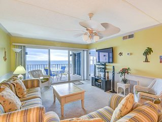 Renovated 7th Top Floor 2 Bed/2 Bath Oceanfront condo sleeps 6.  Oceanfront balc