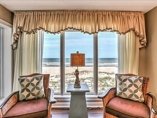 2 Bed/2 Bath, 3rd floor condo sleeps 6 .  Oceanfront balcony & pool.