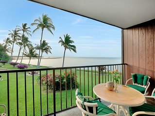 Pacific Ocean Bliss! Lanai, Full Kitchen, Ceiling Fans, Cable TV–Molokai Shores