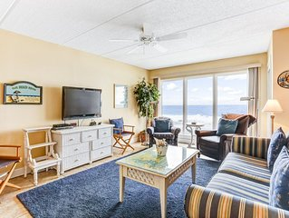 2 Bed/2 Bath Oceanfront condo sleeps 6, 4th Floor  Oceanfront deck & pool.