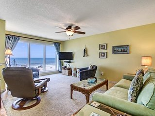 Remodeled 2 Bedroom/2 Bath, 3rd floor Oceanfront condo sleeps 6.  Balcony & Pool