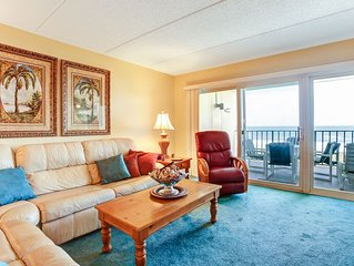 3rd Floor, 2 Bed/2 Bath Oceanfront condo sleeps 6.  Oceanfront balcony, pool & w