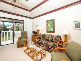 Poipu Suite w/Gourmet Kitchen, Tropical Vibe, WiFi, Lanai–Kiahuna Plantation #21