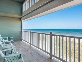 The Wright Place: Roomy Top Floor Oceanfront Condo with Vaulted Ceilings