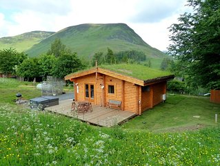 Log Cabin with Hot Tub & Sauna for 2/3 | In the Cairngorm National Park | Great