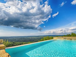 Impressive stone villa amid dreamlike countryside