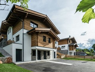 Luxury chalet in Leogang with a view of the mountains