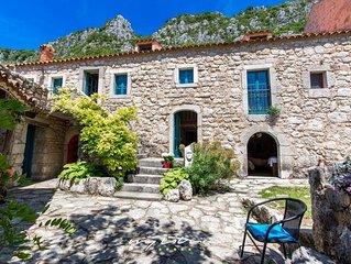 Idyllic stone villa in a serene natural setting