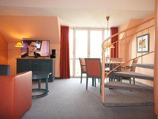 65qm grosse, elegante FeWo-Suite mit 2 Schlafzimmern und Balkon