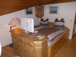 Ferienwohnung 'Bergblickl' 28 qm, Dachgeschoss mit Balkon°