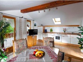 Ferienwohnung Untersberg, fur 2-4 Personen, zwei separate Schlafzimmer