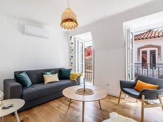 Joli et agreable appartement avec un balcon