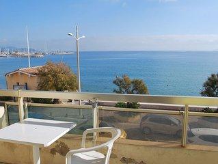 Studio cabine très belle vue  mer  - 4 couchages, belle terrasse équipée.