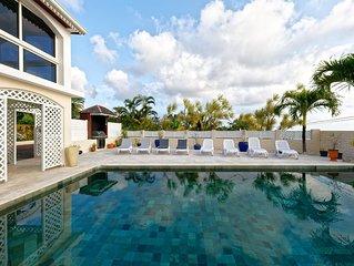 Petite-ile, Grande-Anse, spacieuse villa Tectec, piscine chauffee, 12 pers.