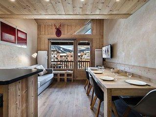 Pierre et Vacances 210 : Duplex renove dans une residence avec piscine et sauna
