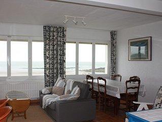 Ambleteuse, Cote d'opale: appartement 4 personnes face a la mer.