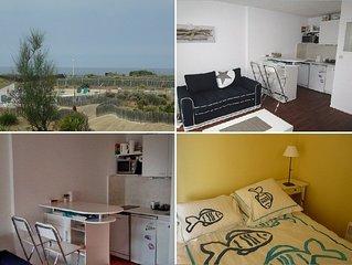 Appartement 2 personnes, rés front de mer avec piscine Lacanau