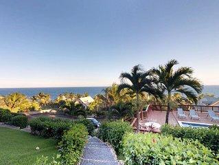 Dog-friendly house w/ shared pool & amazing views, walk to West Bay Beach!