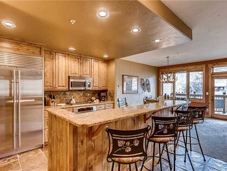 Spacious ski-in/ski-out condo with shared slopeside pool/hot tub