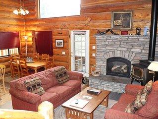 Braided Rug Beautiful Rustic Log  Cabin