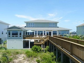 6 Bed/4.5 Bath Well Appointed Caswell Beach Rental with Dune Top Deck and Gourme