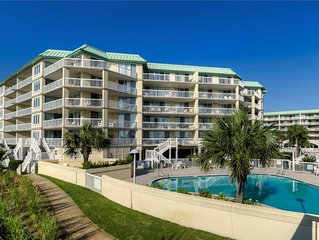 Oceanfront condo in gated Pawleys Island community with many amenities