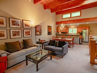 Riverside Condo with Mountain and Town views and updated furnishings.