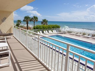 Beachfront Vacation Rental, Beautiful view from the 2nd story balcony.