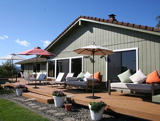 Highly Rated, Contemporary Wine Country Home with Sweeping Views