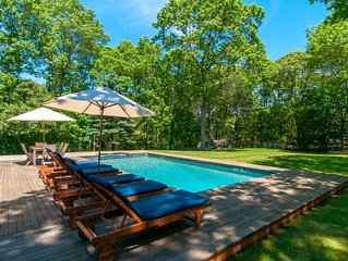 Private, Charming, Lovely Farmhouse situated on 1 acre in Wainscott East Hampton