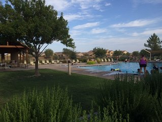 Delightful bungalow situated by Johnson Ranch Golf Course in San Tan Valley, AZ