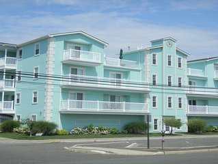 Two bedroom unit with dunk pool and game room on roof top, 2.5 blocks to beach