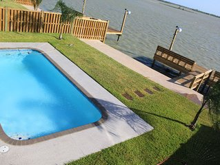 New Bayfront Home With Pool