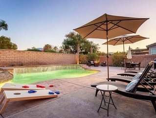 Minutes to festival 4BR w/ Pool & Spa + Games!