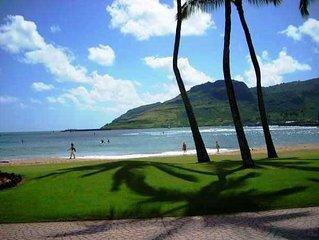 Walk to beach, Air Conditioned, SUNNY Kalapaki Beach Area, Swim Pool, Tennis