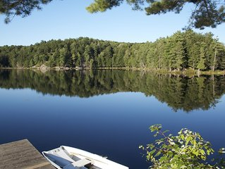 Cedar A Frame Chalets on private lake with Trout  Ask for our off season rates