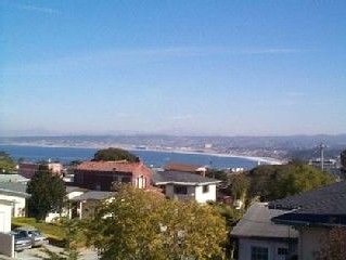 Bay View and City Lights Home, Garage in Old Monterey Bay ~ Monthly only